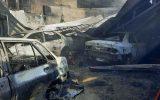 سوختن ۱۳ خودرو در شیراز